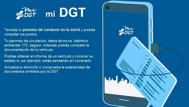 Aplicación móvil de la DGT