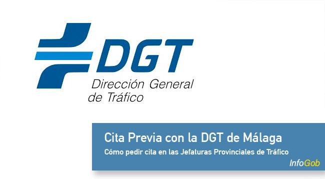 Pedir la cita previa con la DGT en Málaga