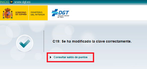 Consultar el saldo de puntos del carnet de conducir con la DGT