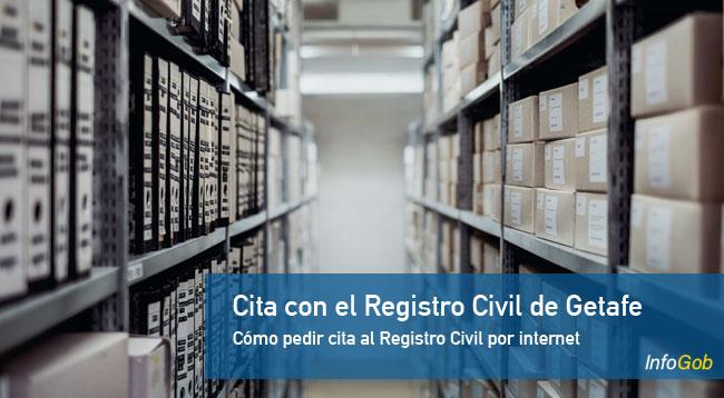 Cita previa con el Registro Civil de Getafe por internet