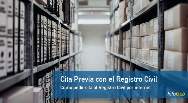 Pedir cita previa con el Registro Civil