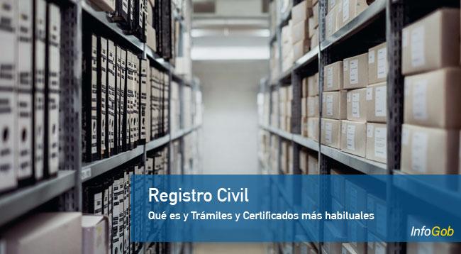 Que es y Trámites y Certificados en el Registro Civil