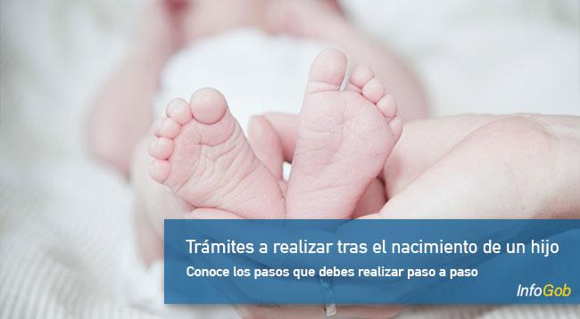 Trámites a realizar tras el nacimiento de un hijo