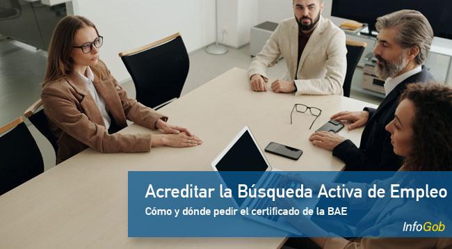 Cómo obtener el certificado de la Búsqueda Activa de Empleo