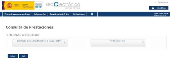 Consultar las prestaciones y subsidios del SEPE desde la Sede Electrónica