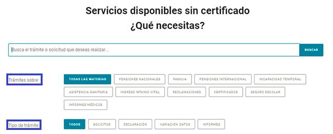 Servicios y gestiones puedes buscar con la Seguridad Social sin certificado
