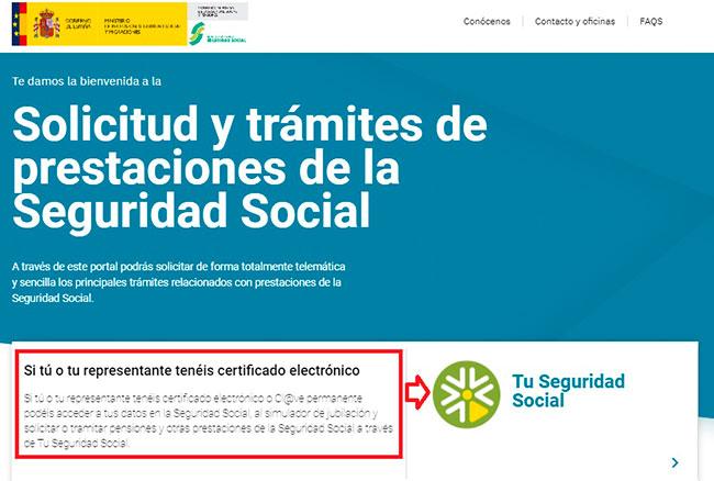 Trámites con la Seguridad Social sin certificado digital