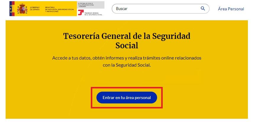 Saber dónde consultar el número de la Seguridad Social en el portal de la Tesorería