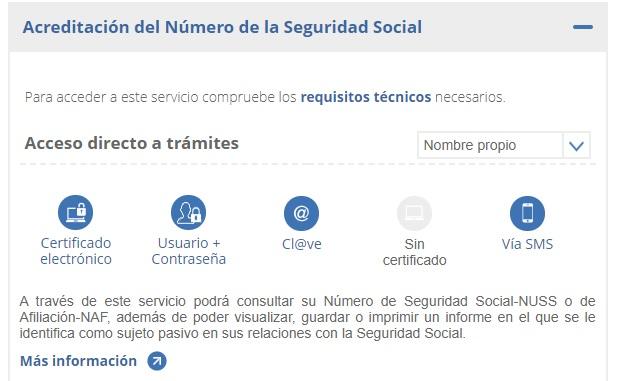 Consultar el número de la Seguridad Social por internet